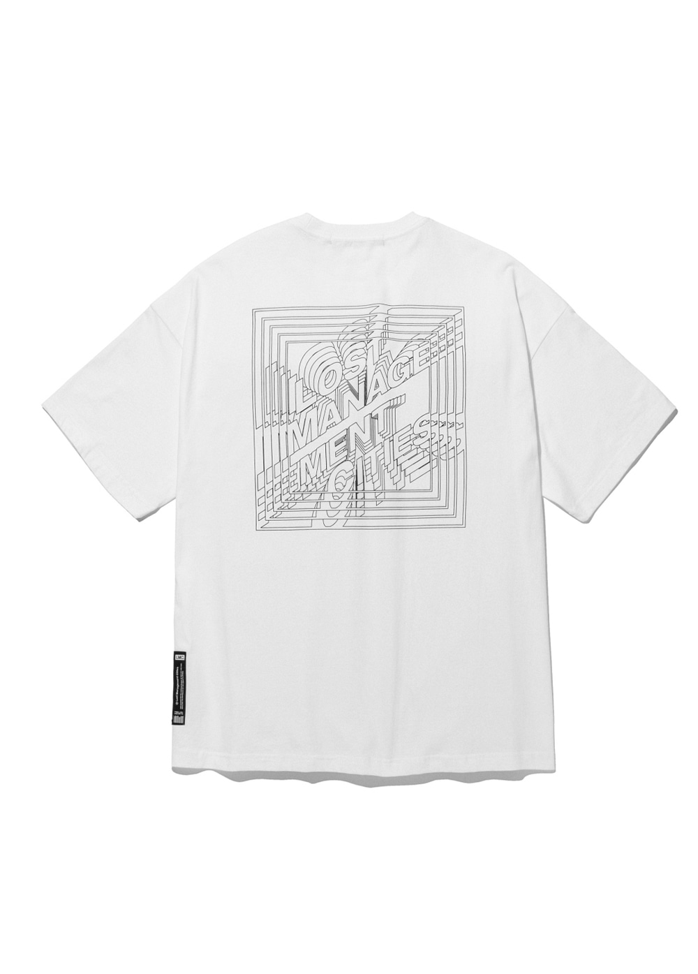 LMC SQUARE FN OVERSIZED TEE white