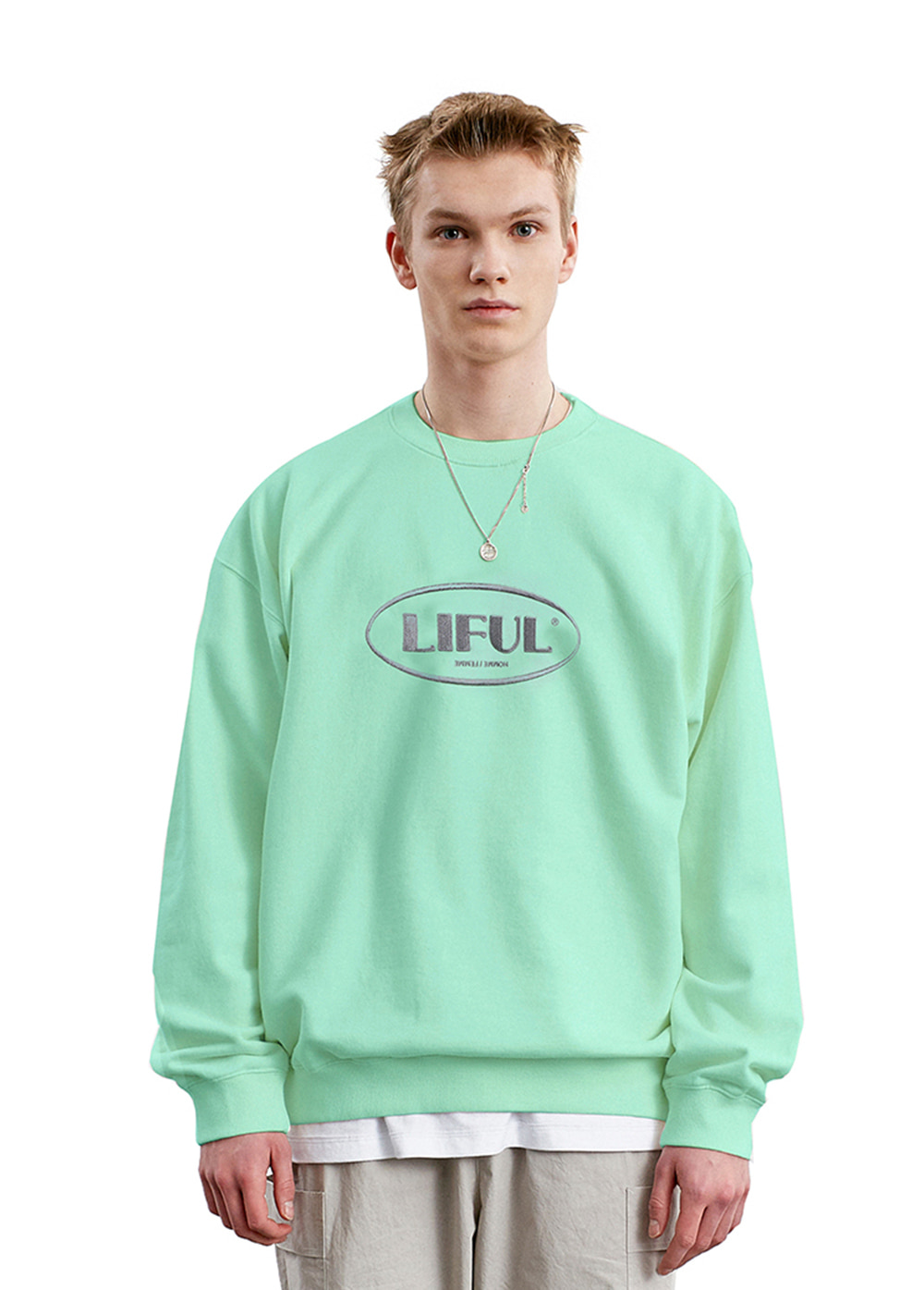 LIFUL OVAL LOGO SWEATSHIRT mint