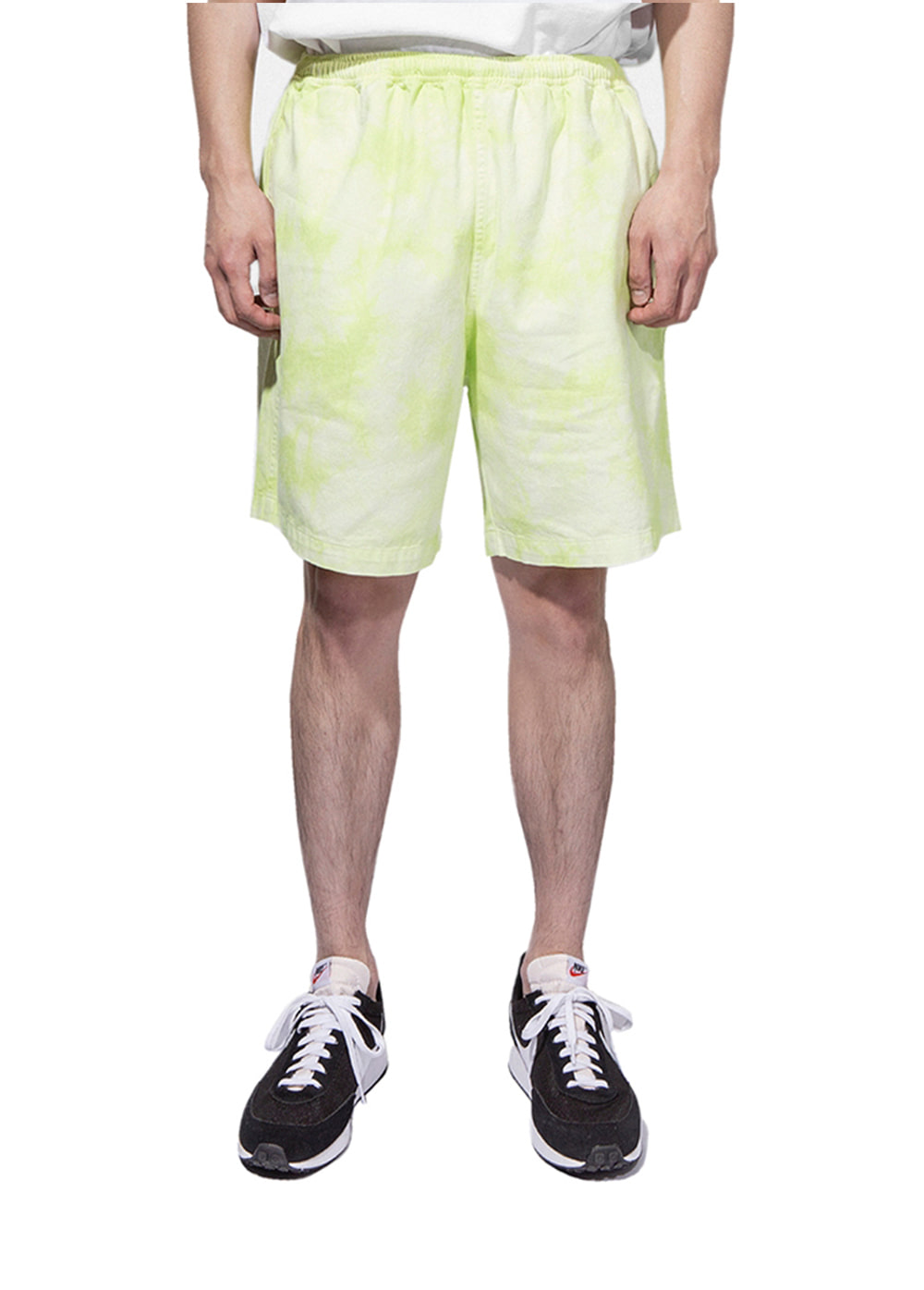 TIE DYE EASY SHORTS lime
