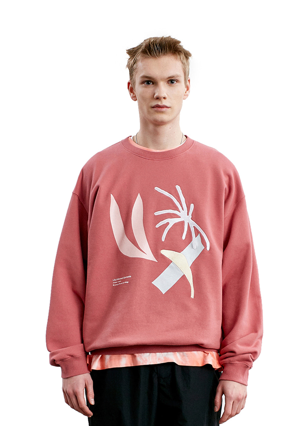 DOODLING COLLAGE SWEATSHIRT pink