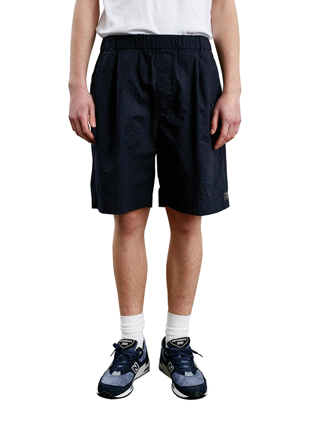 CREASE EASY SHORTS dark navy