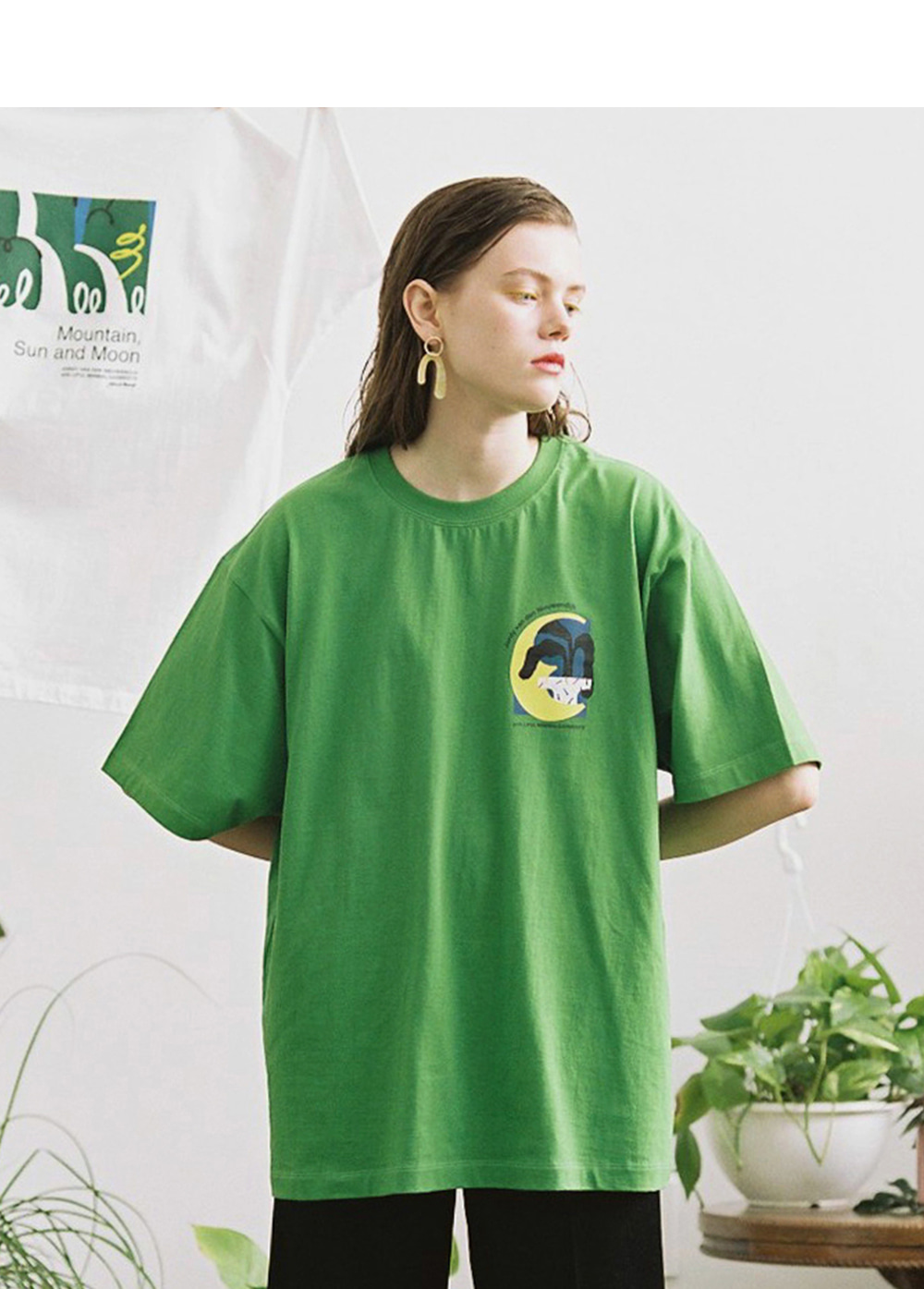 LIFUL X JORDY MOON TEE green