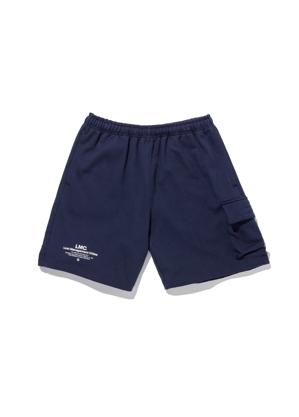 LMC SIDE POCKET SWEAT SHORTS navy
