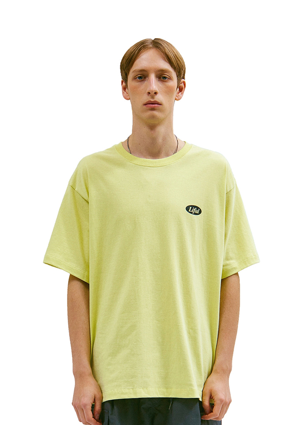 SLOGAN LOGO TEE yellow lime