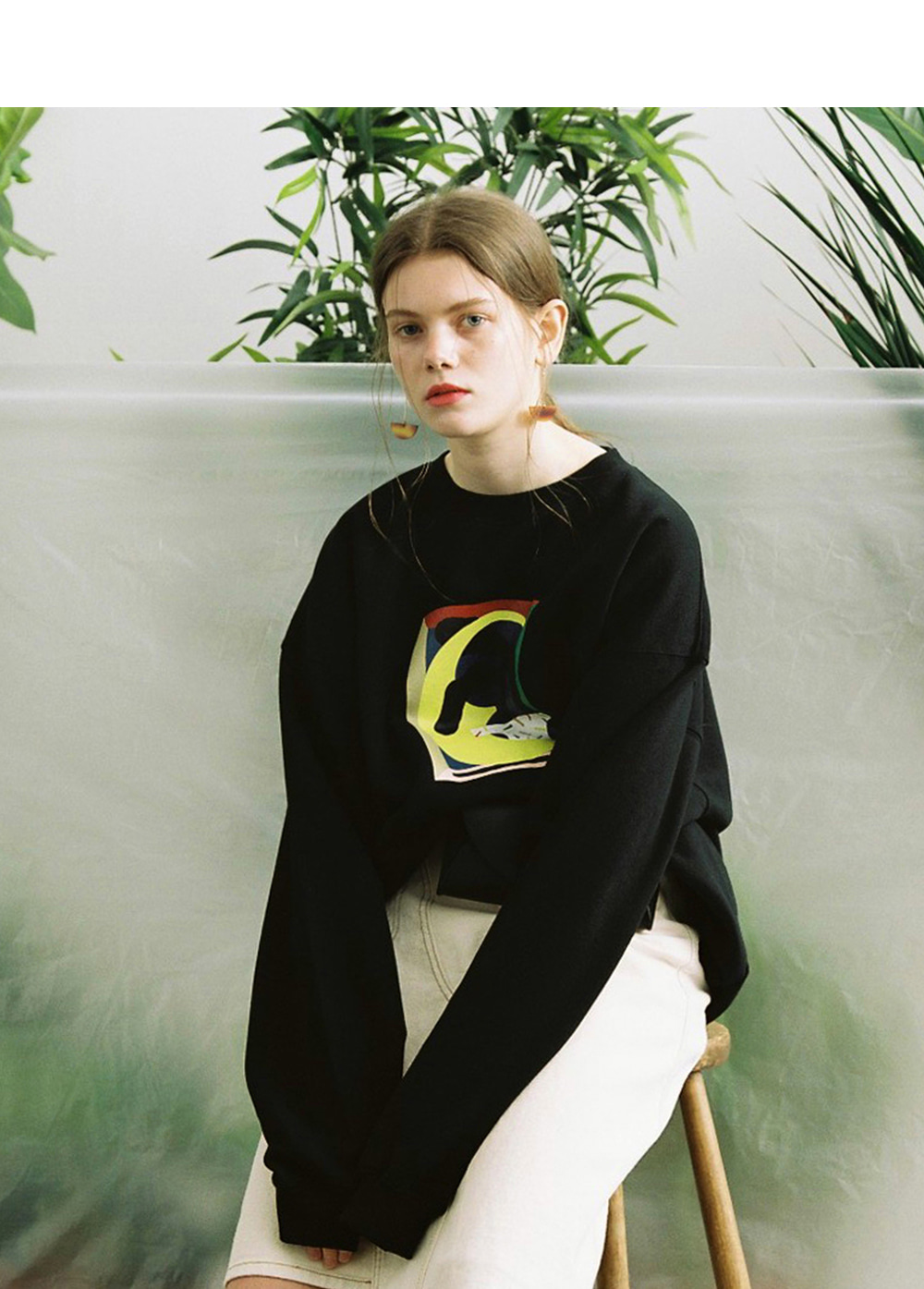 LIFUL X JORDY PLANT SWEATSHIRT black