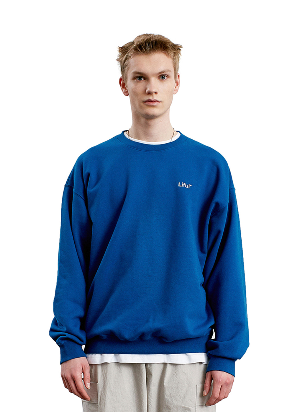 LIFUL LOGO SWEATSHIRT blue