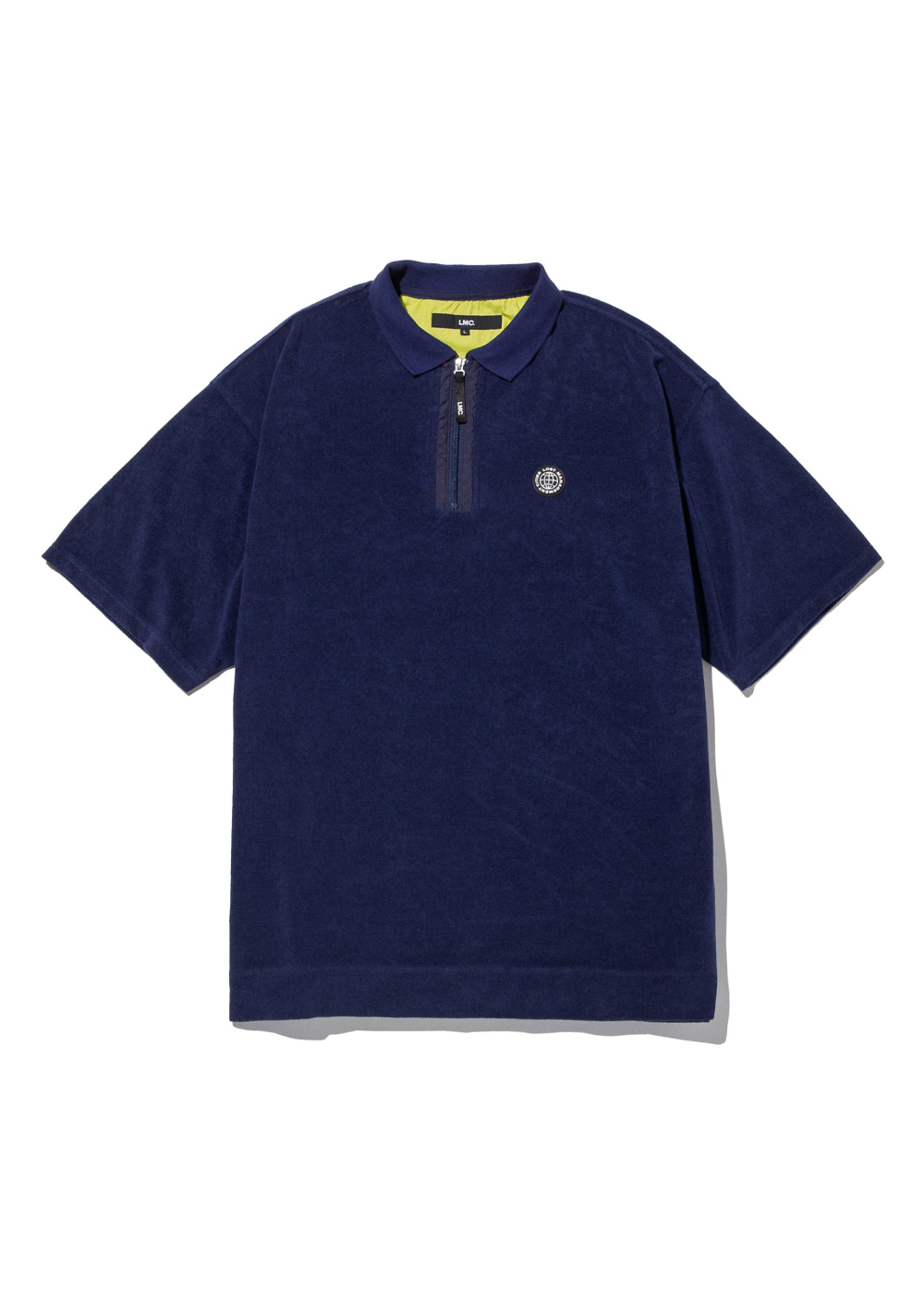 LMC TERRY ZIP POLO SHIRT navy