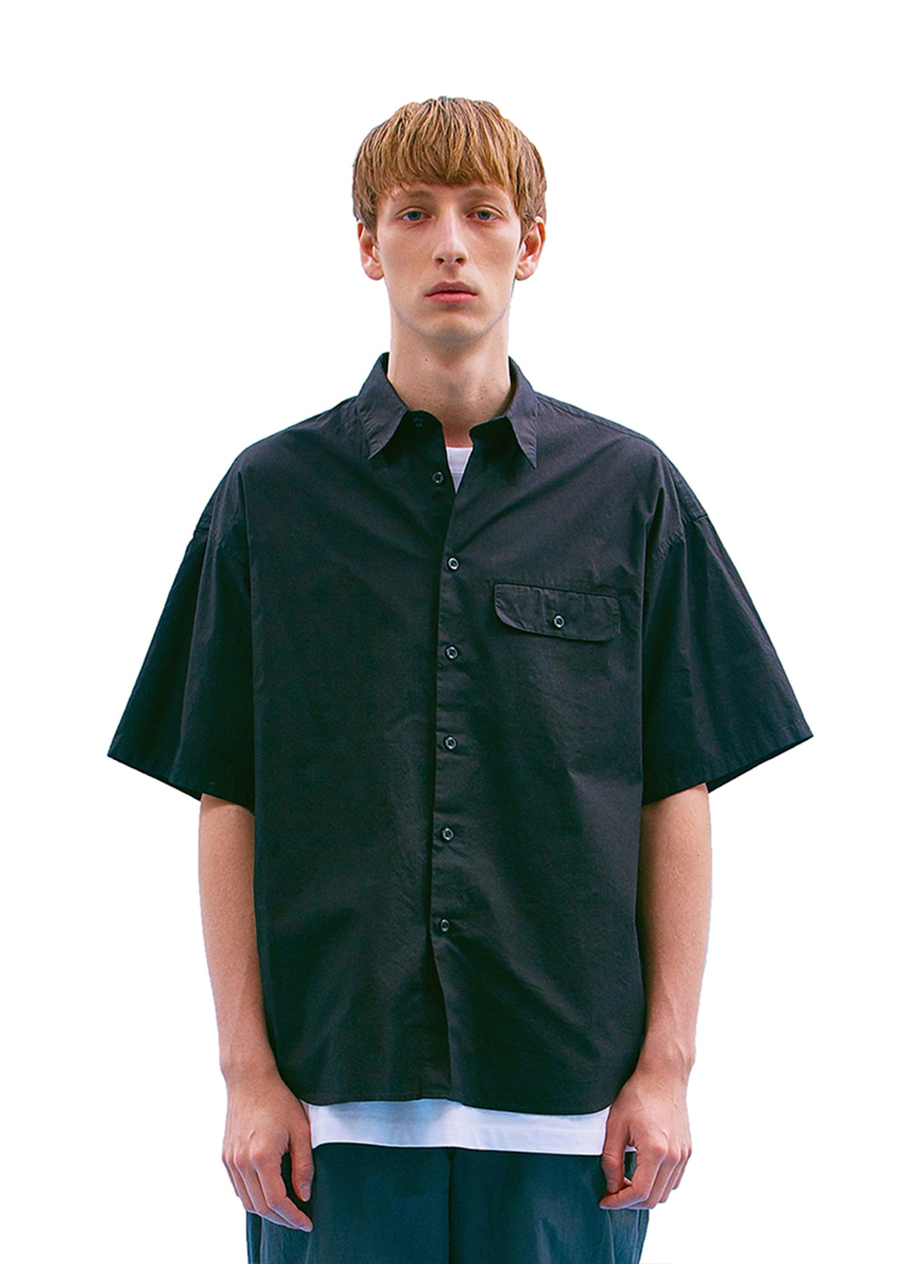 FLAP POCKET SHIRT black