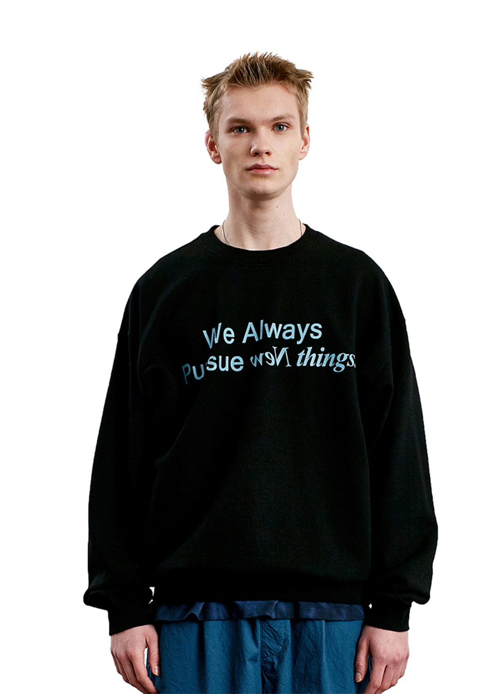 SLOGAN LOGO SWEATSHIRT black