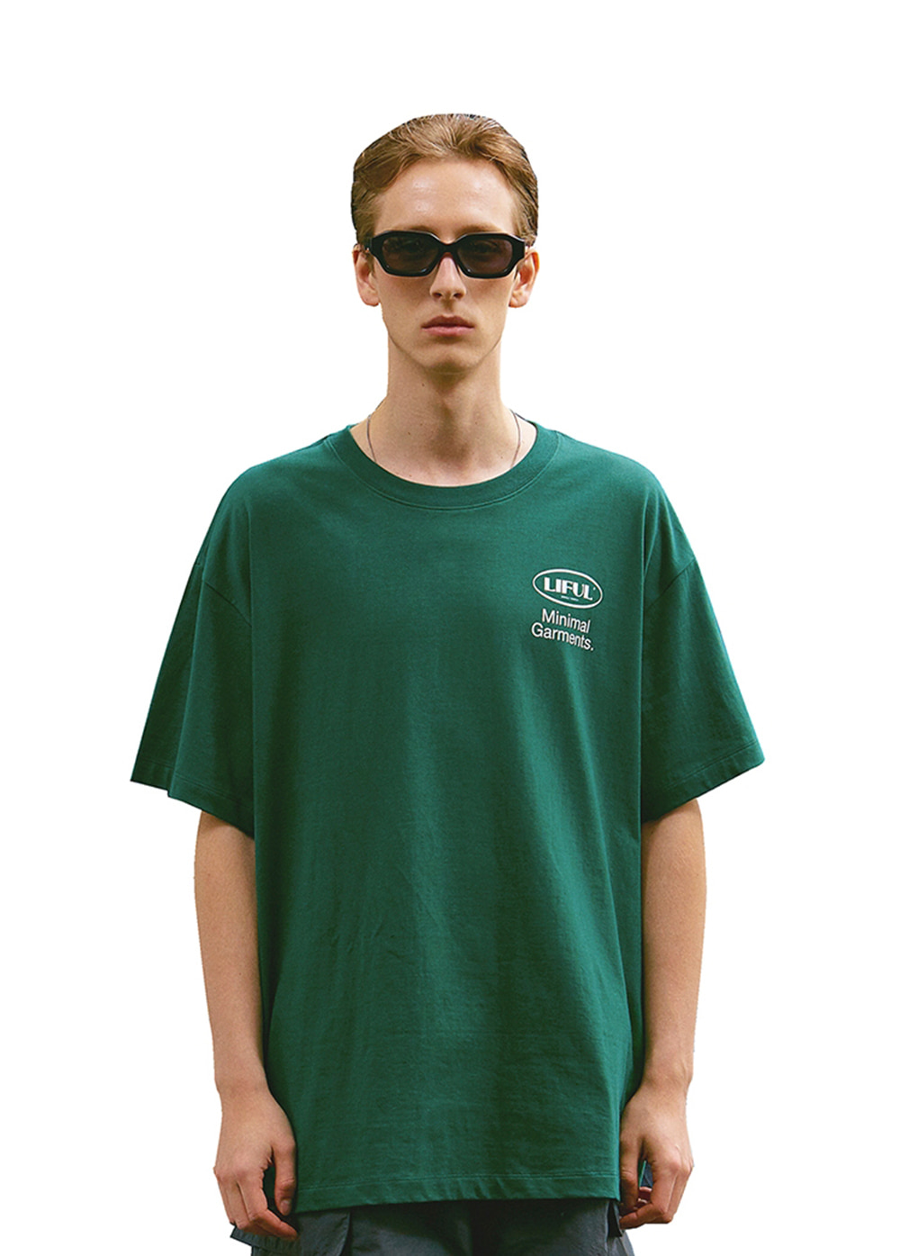 BIG OVAL LOGO TEE green