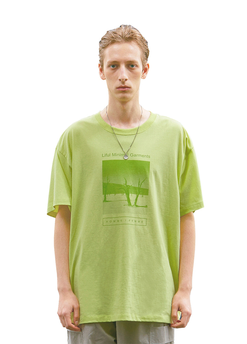 SOSSUSVLEI GRAPHIC TEE yellow lime