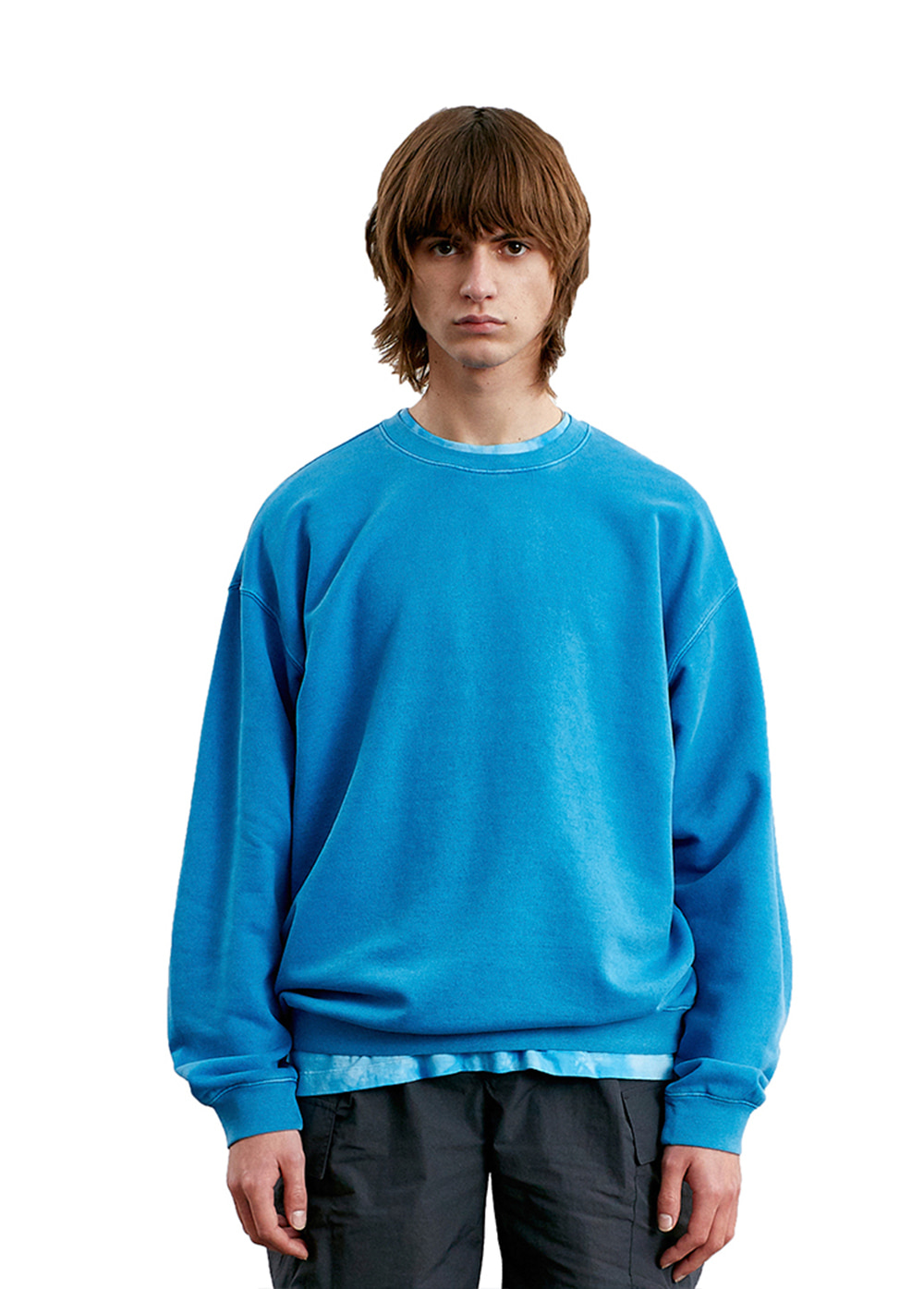 LABEL P-DYED SWEATSHIRT sky blue
