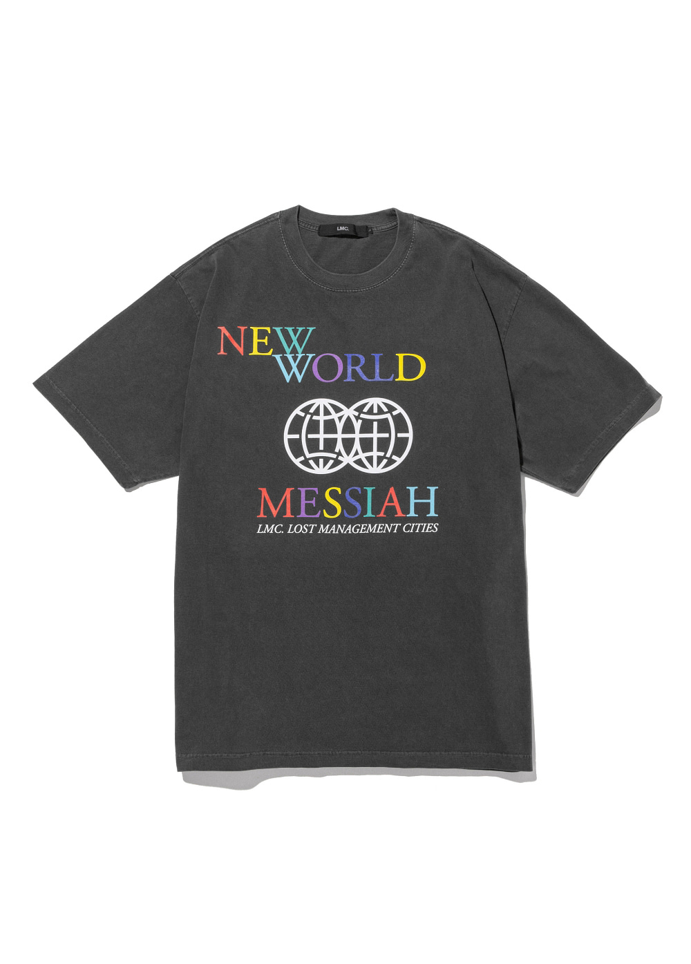 LMC OVERDYED RAINBOW TEE black