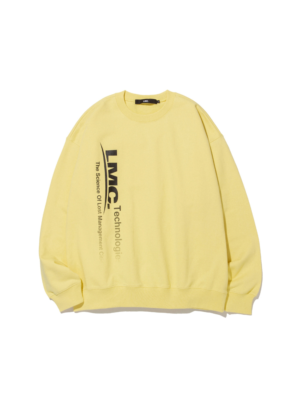 LMC TECH FADEOUT OVERSIZED SWEATSHIRT lt. yellow
