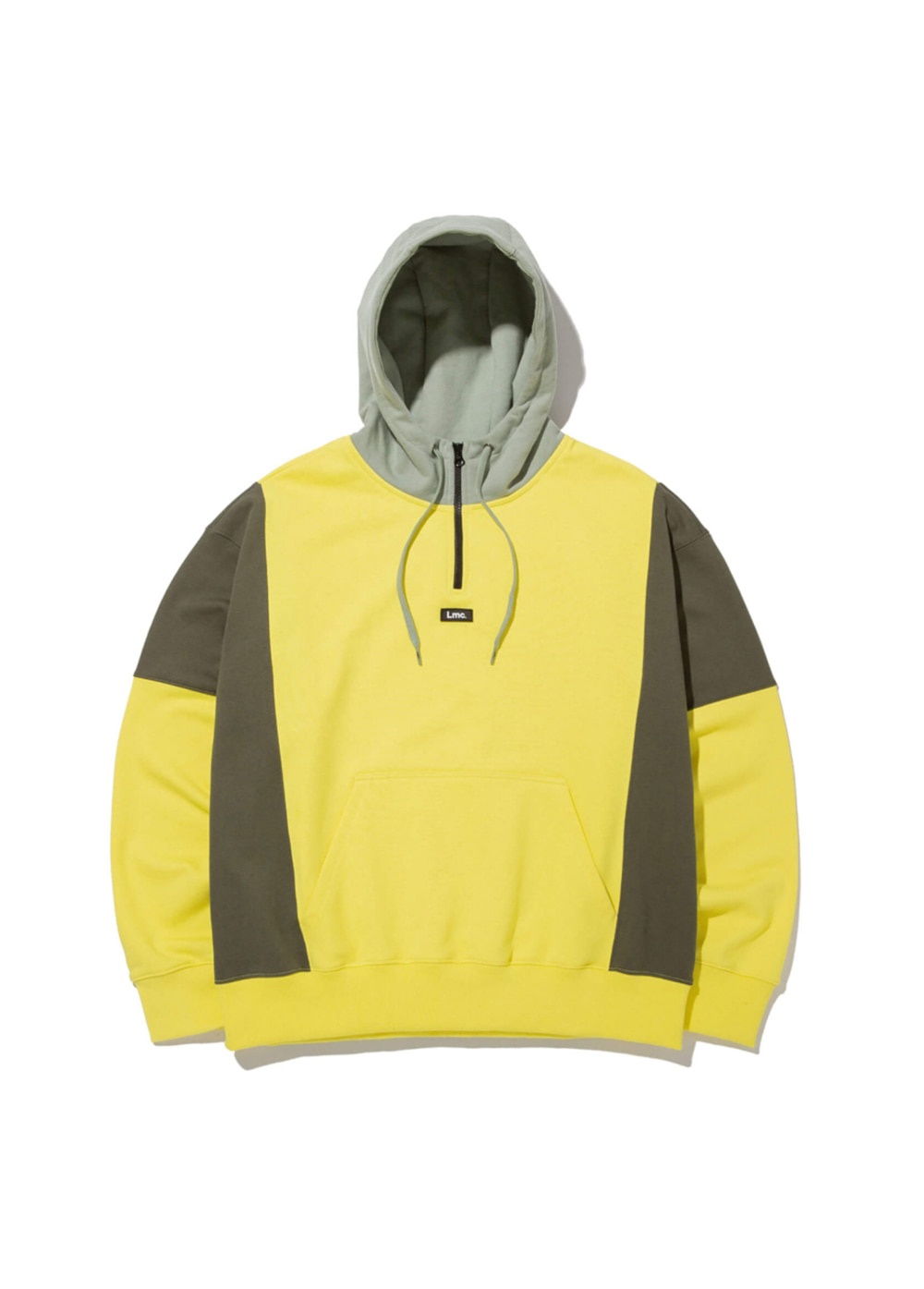LMC QUARTER ZIP-UP OVERSIZED HOODIE lemon yellow