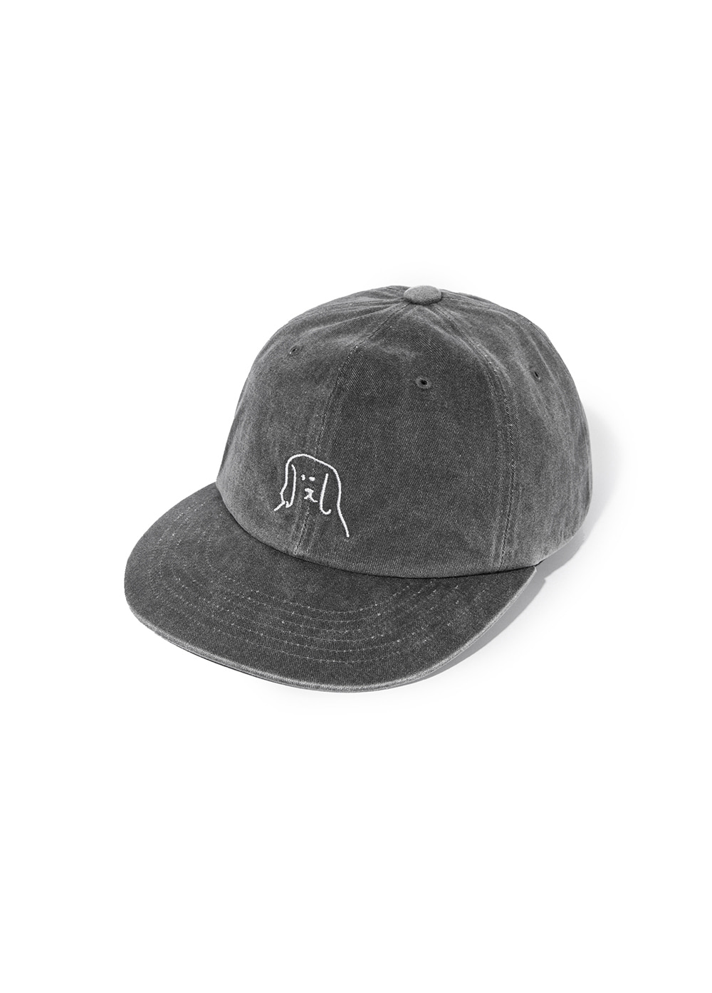 LIFUL x PUPPY RADIO PUPPY DYED CAP black