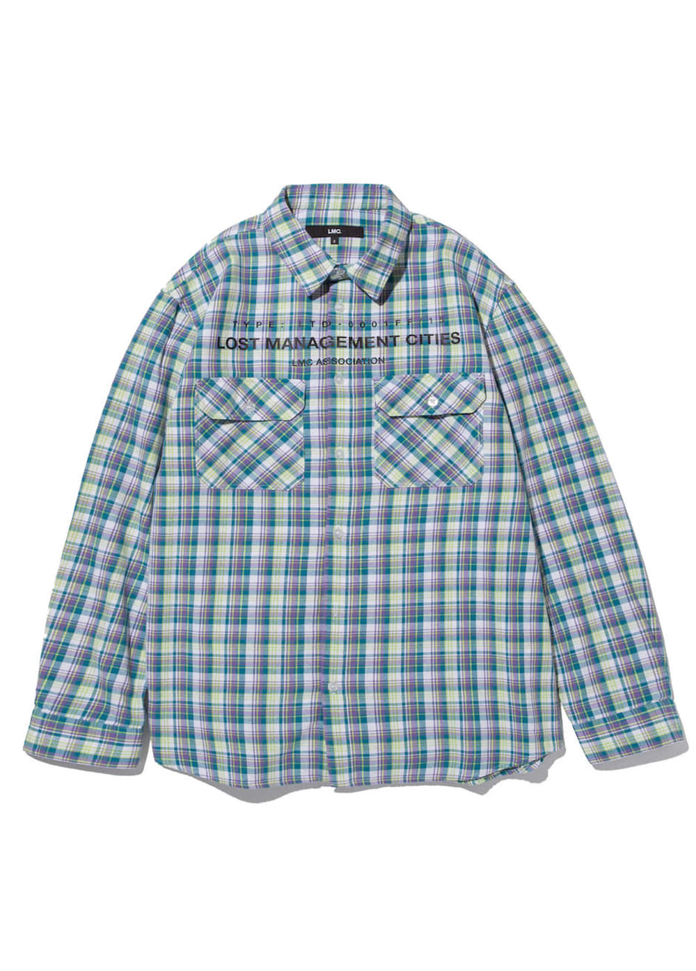 LMC TOP ASSOCIATION PLAID SHIRT teal