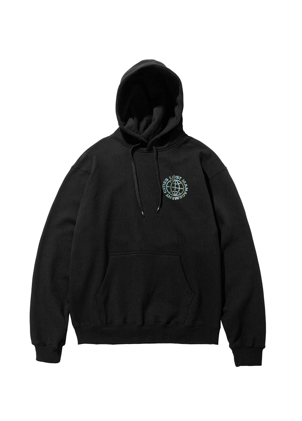 LMC WAVED WHEEL HOODIE black