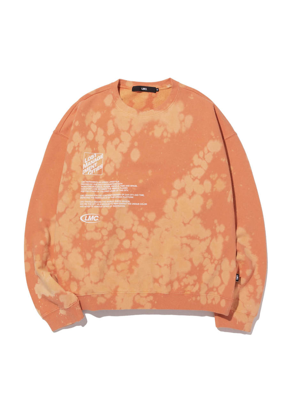 LMC EXPL BLEACH OVERSIZED SWEATSHIRT salmon