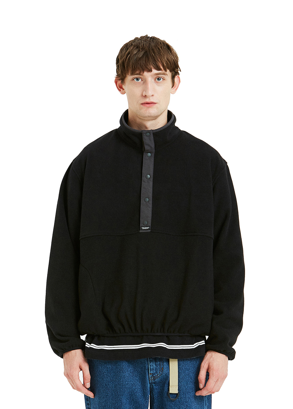 FLEECE PULLOVER JACKET black