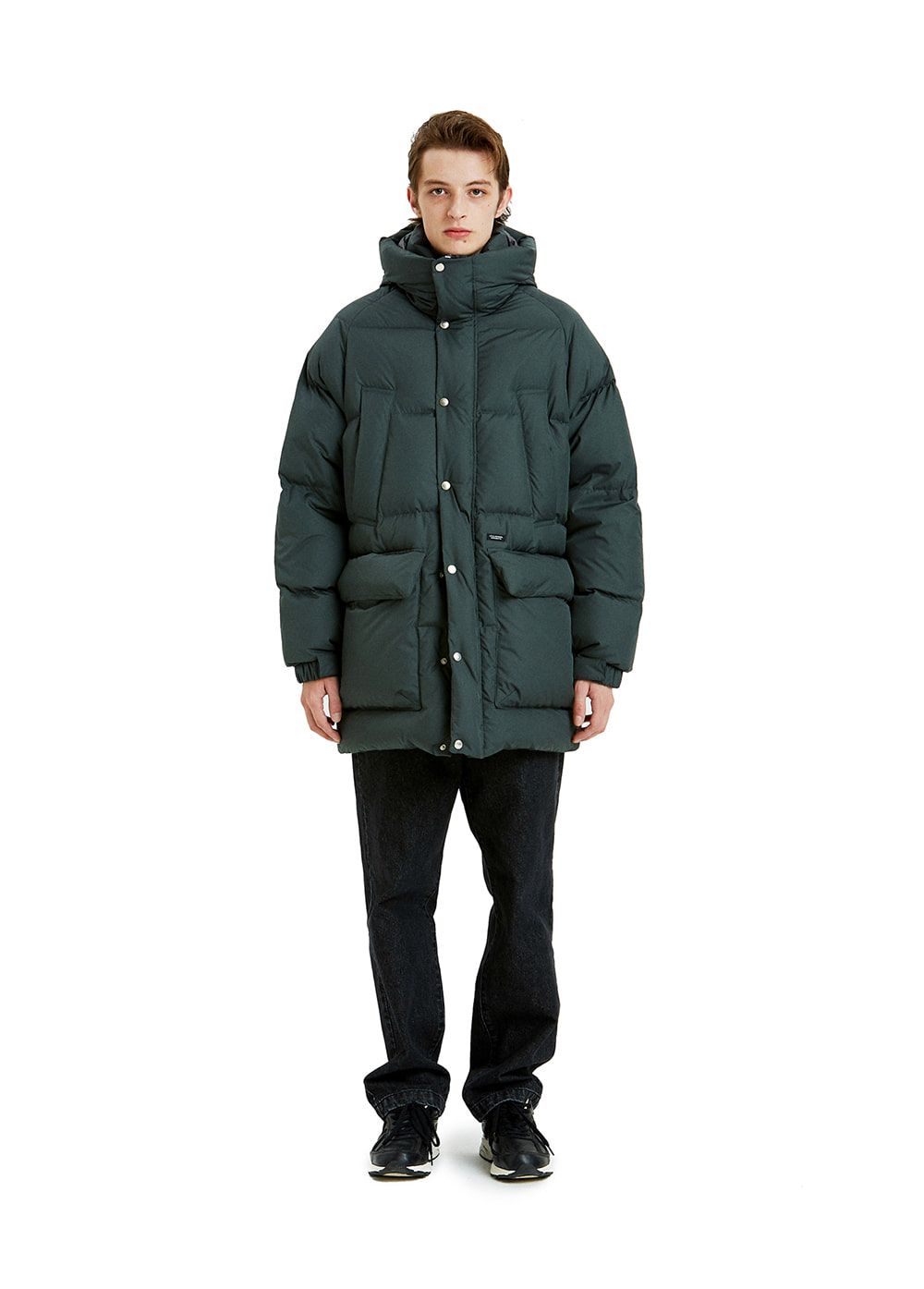 LIFUL OVERSIZED PUFFER LONG DOWN dark green