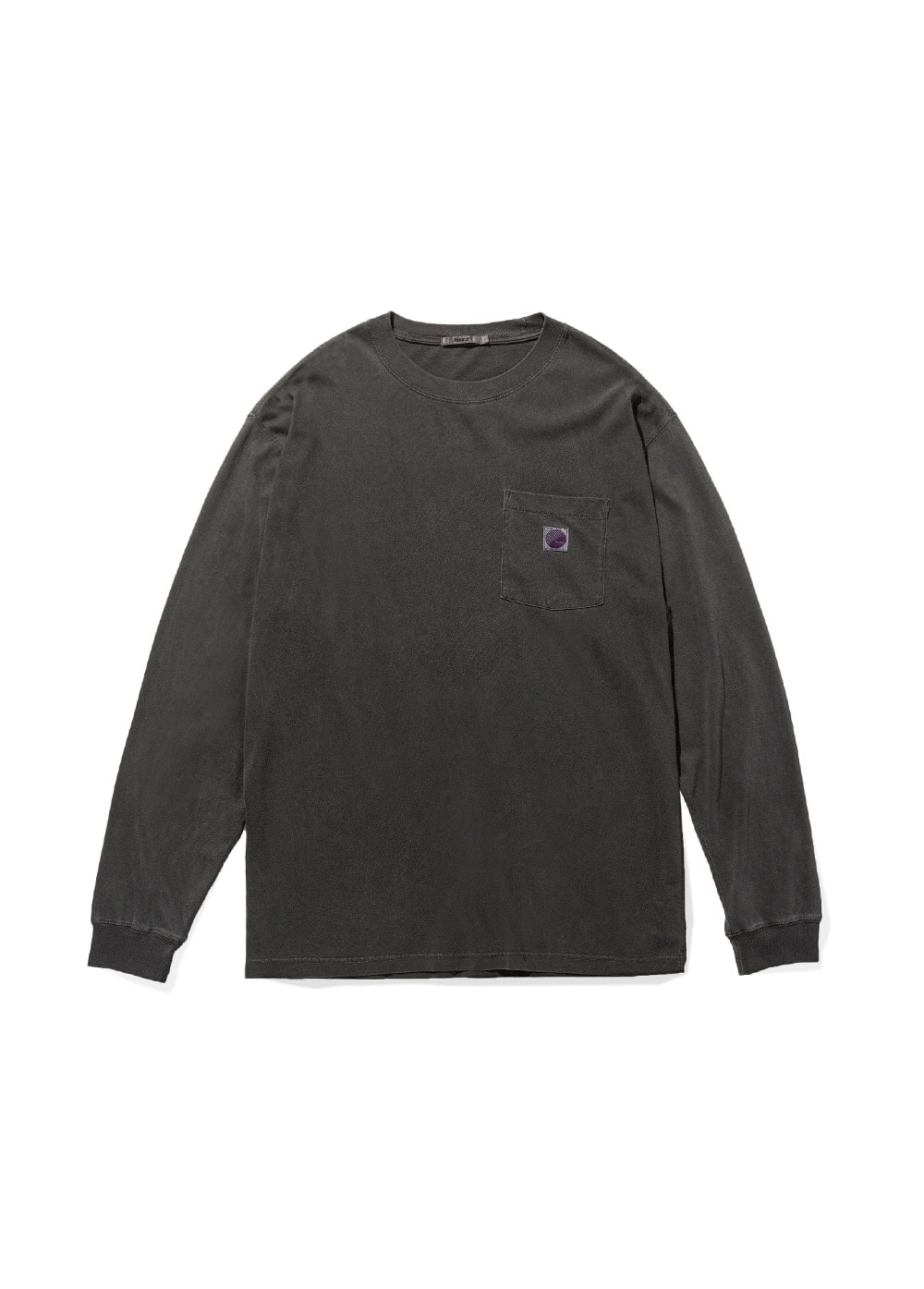 FUZZ PIGMENT DYED POCKET L/S TEE black