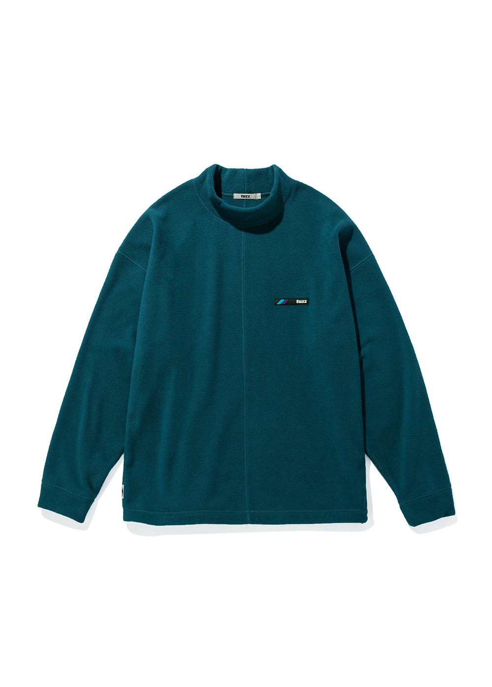 FUZZ FLEECE MOCKNECK L/S dark teal