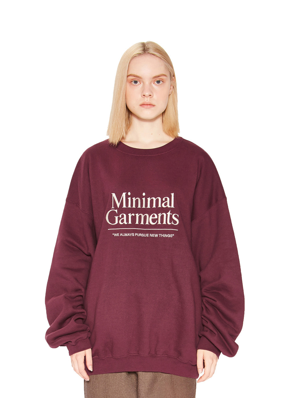 BIG LOGO SWEATSHIRT burgundy