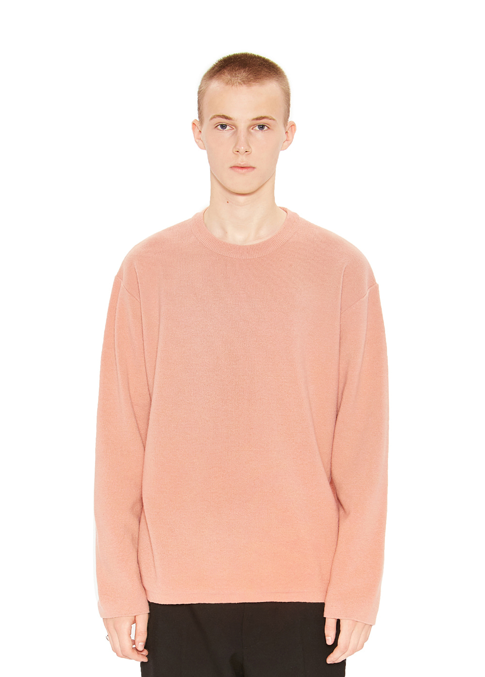 CASHMERE KNIT SWEATER pink