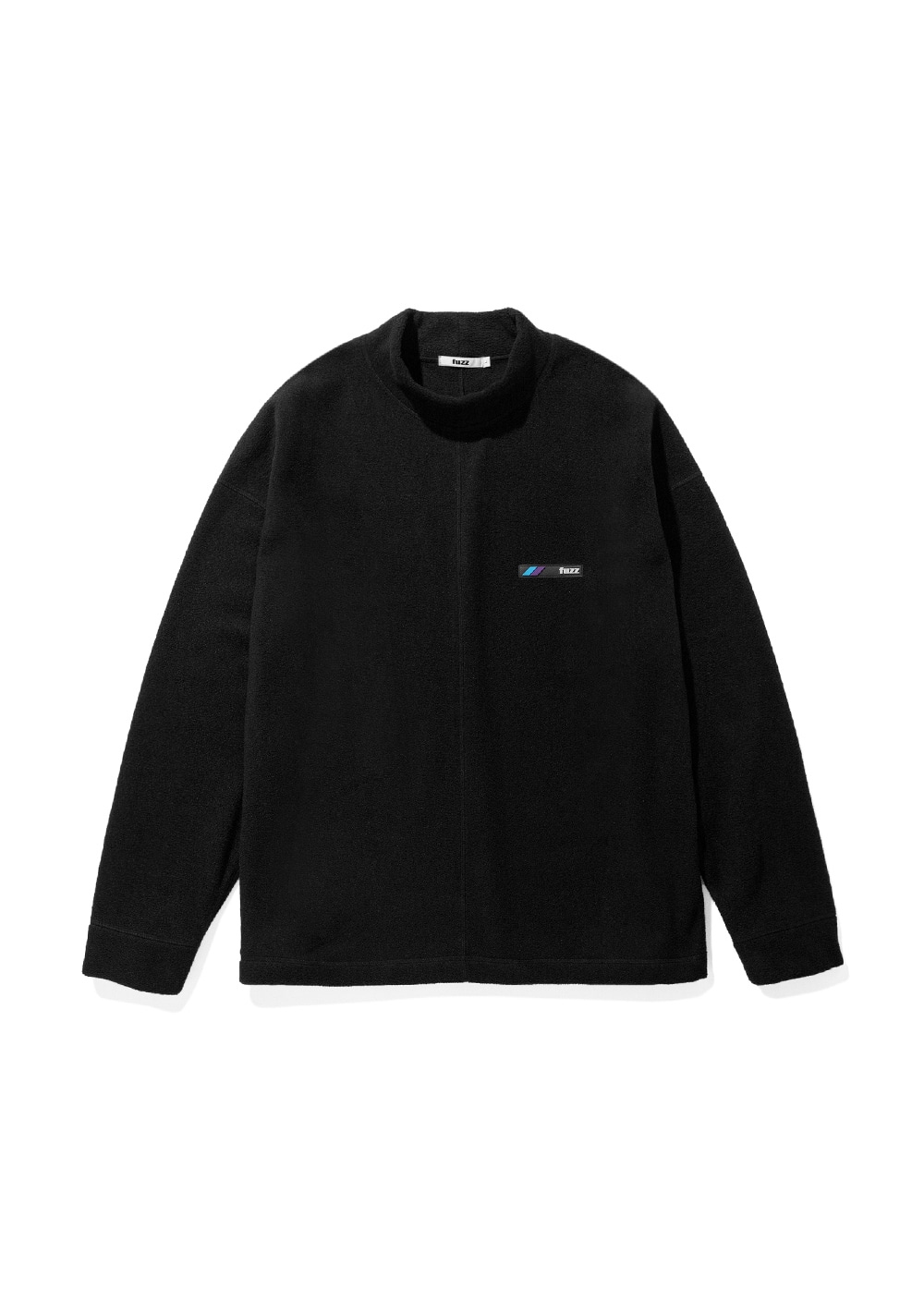 FUZZ FLEECE MOCKNECK L/S TEE black