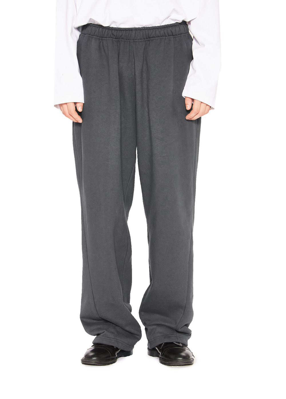 OVAL LOGO SWEATPANTS charcoal