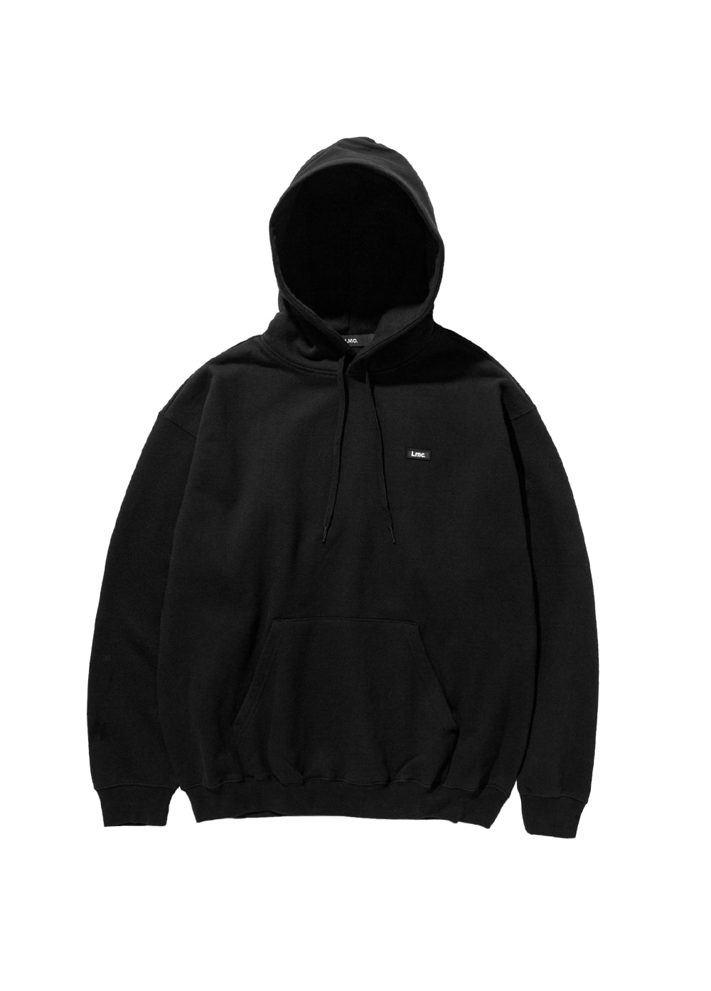 LMC RUBBER PATCH OVERSIZED HOODIE black
