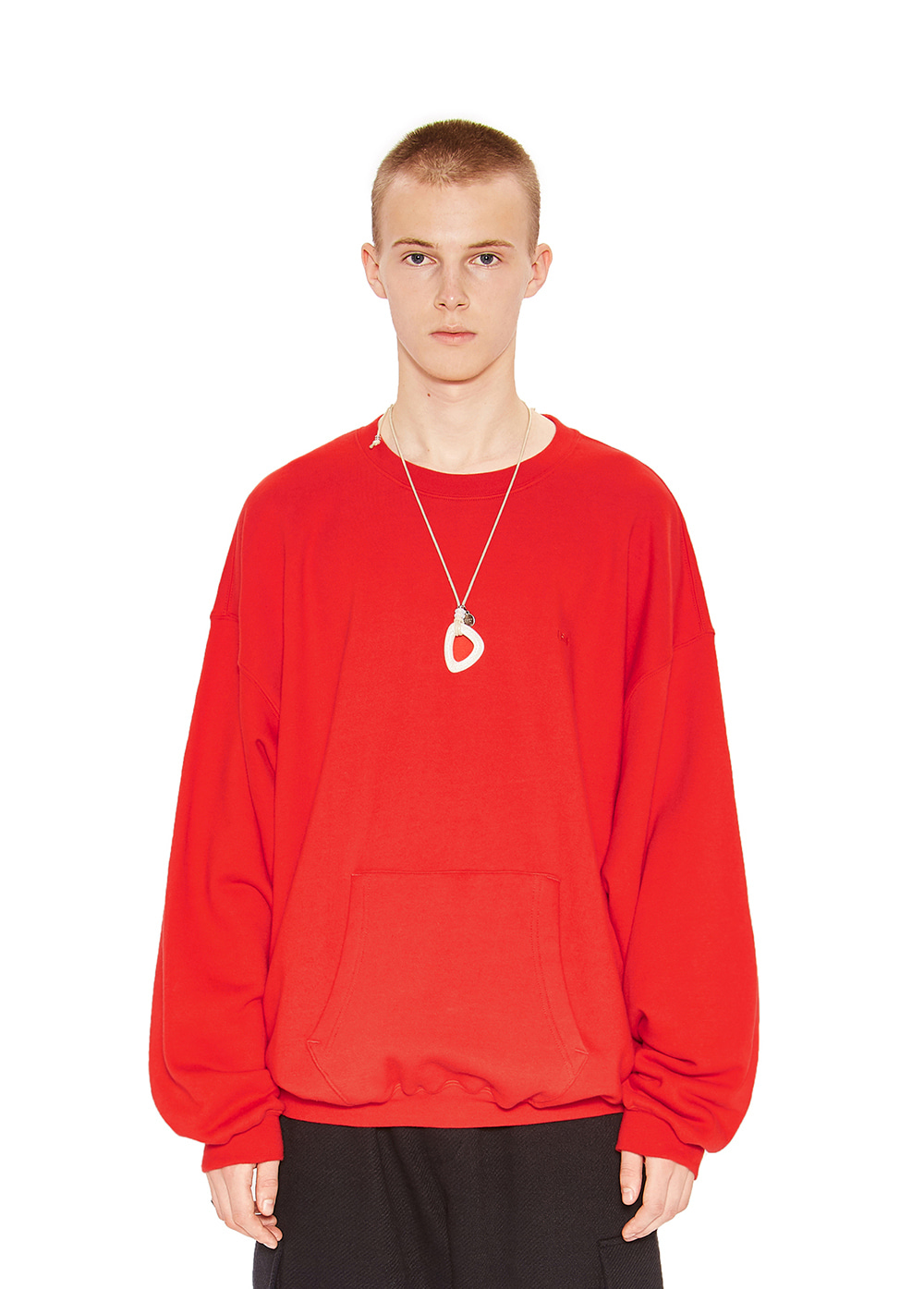 LIFUL LOGO POCKET SWEATSHIRT red