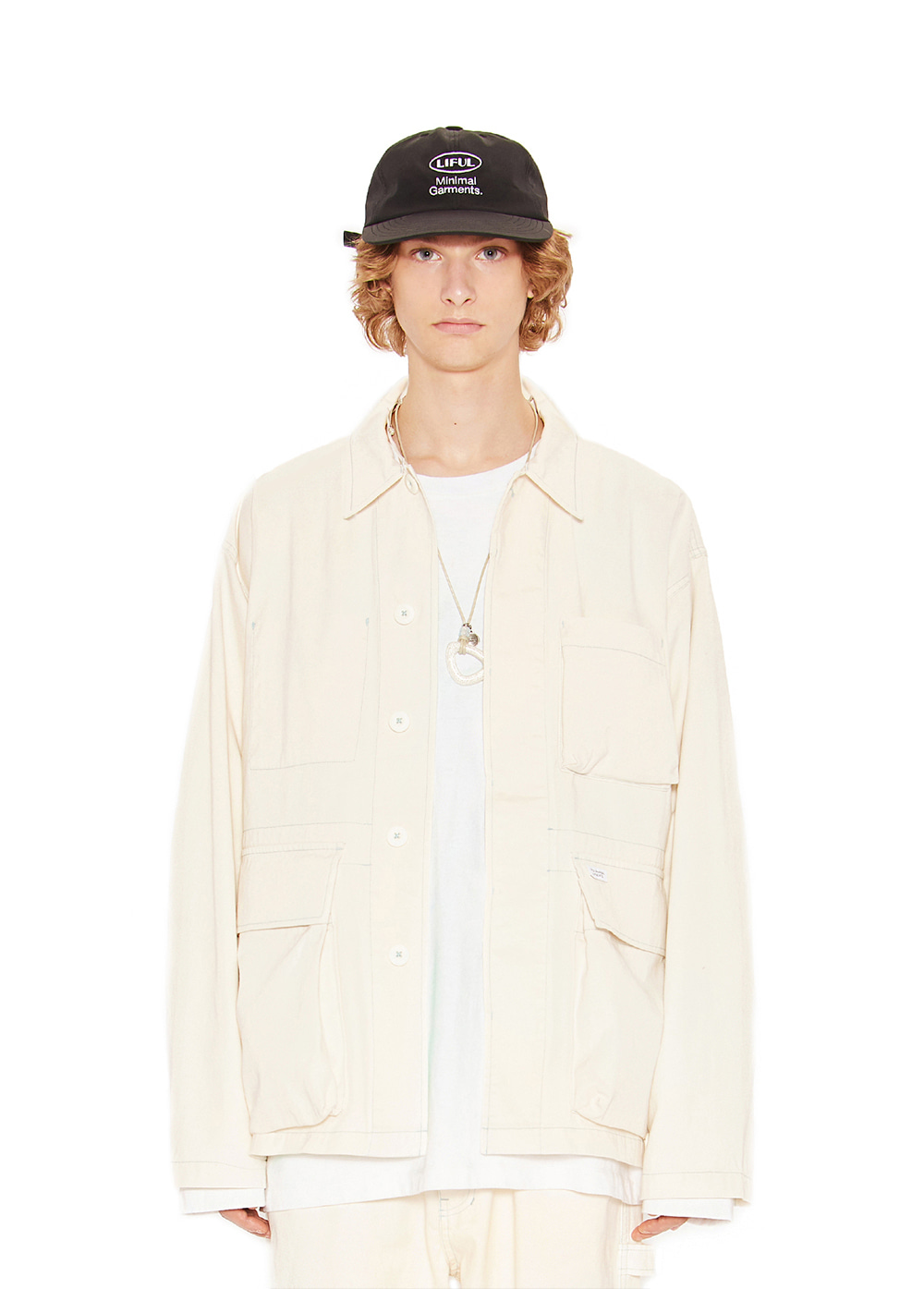 WASHED WORK JACKET ivory