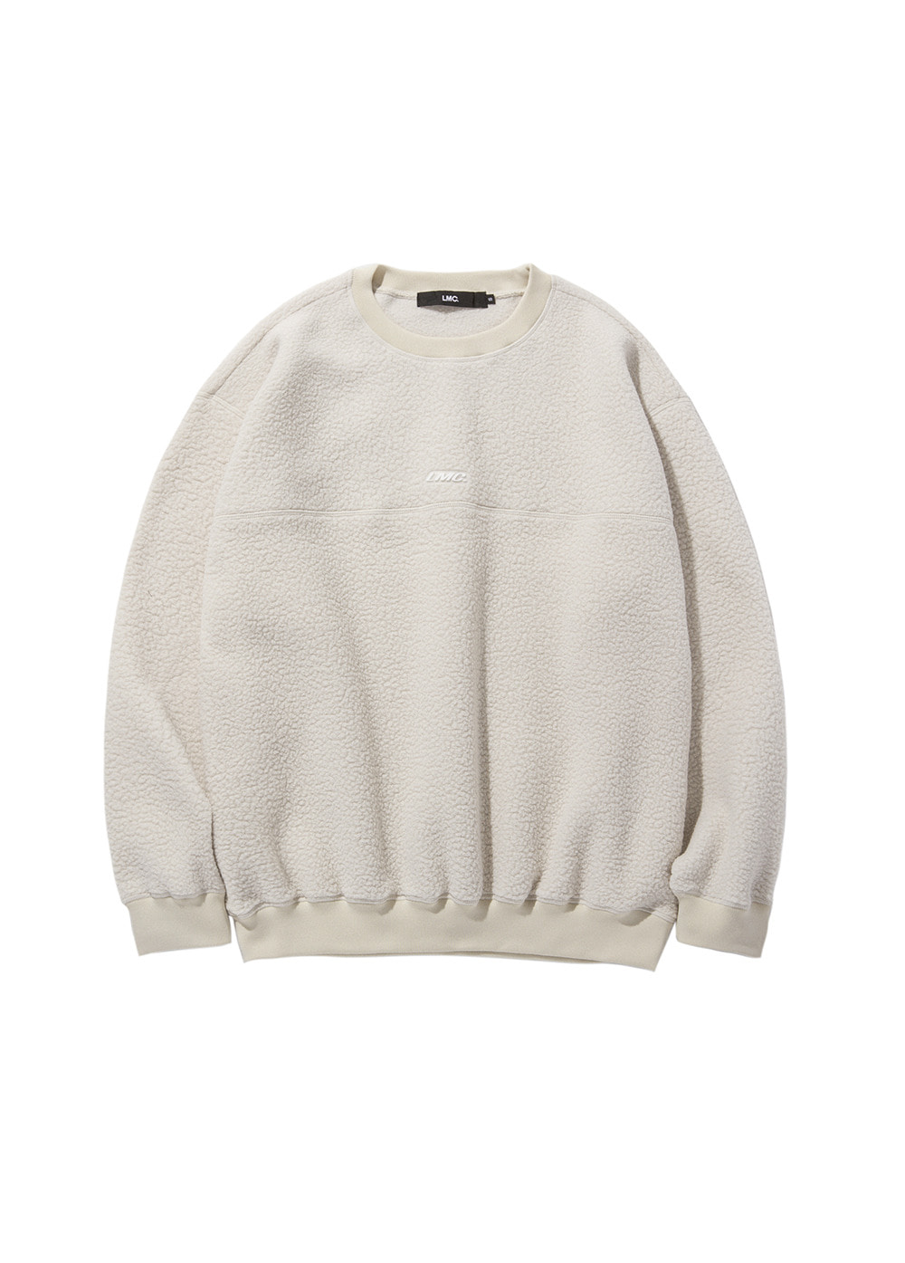 LMC BOA FLEECE OVERSIZED SWEATSHIRT beige