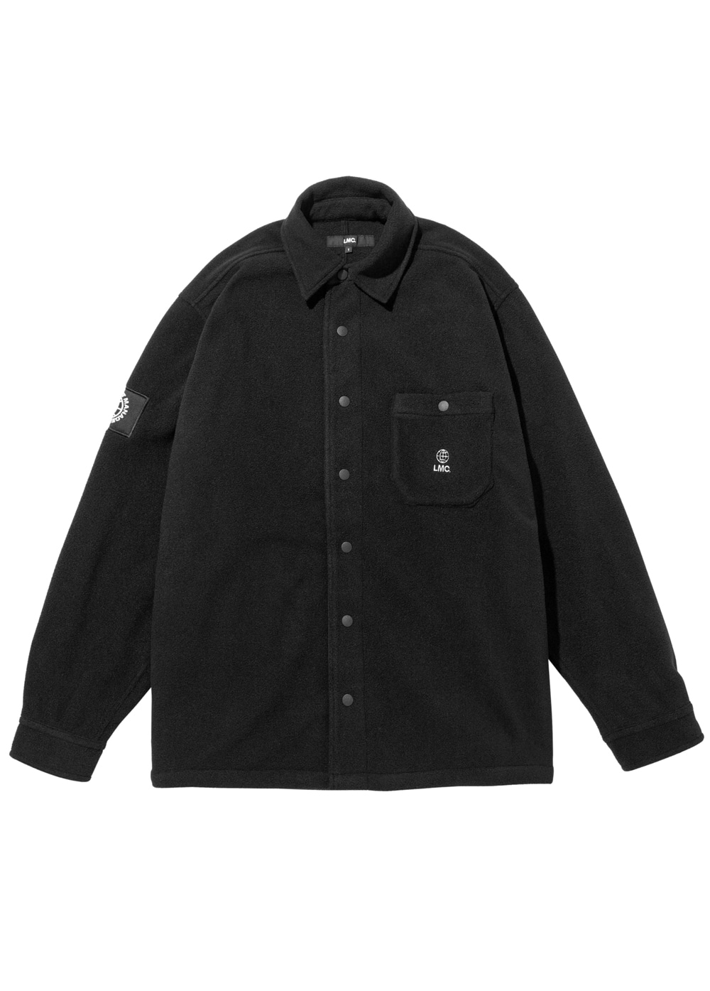 LMC FLEECE SNAP SHIRT black