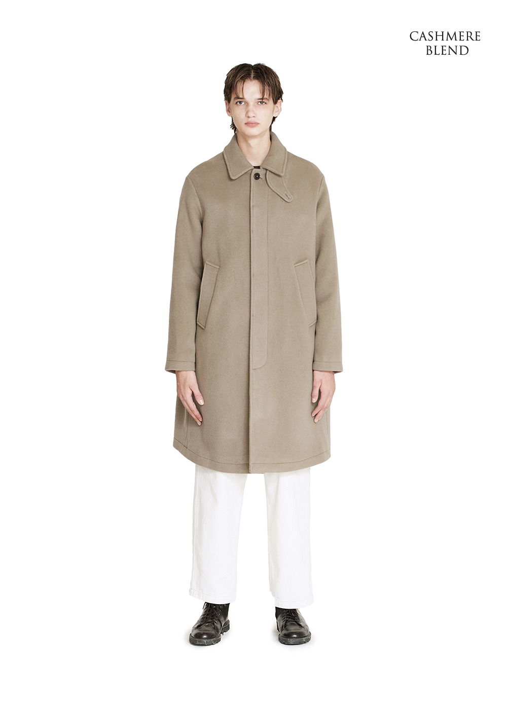 SINGLE SOUTIEN COAT beige