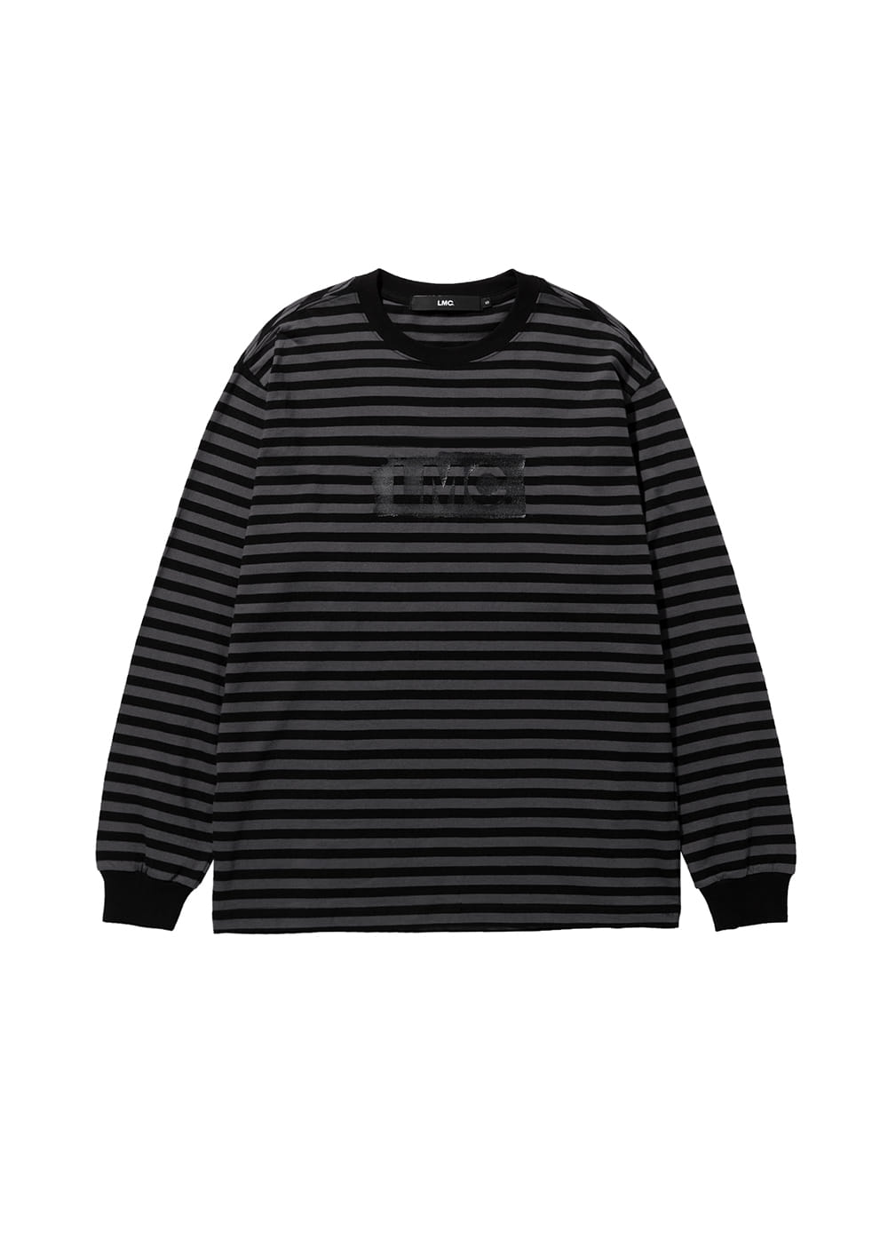 LMC PAINT BOX STRIPE LONG SLV TEE black
