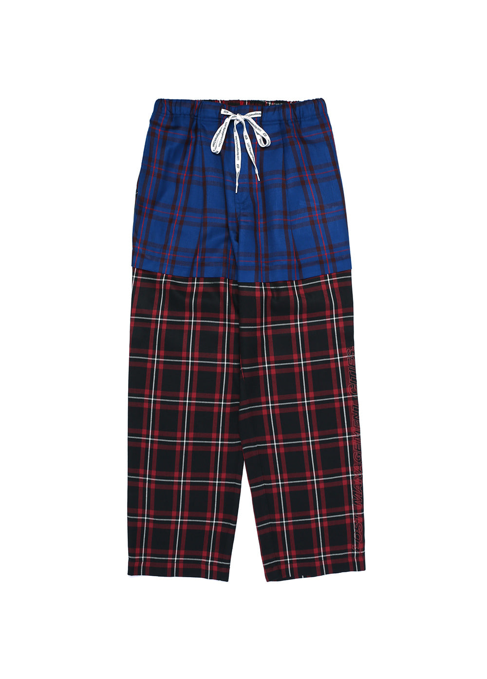 LMC PLAID SUIT PANTS red