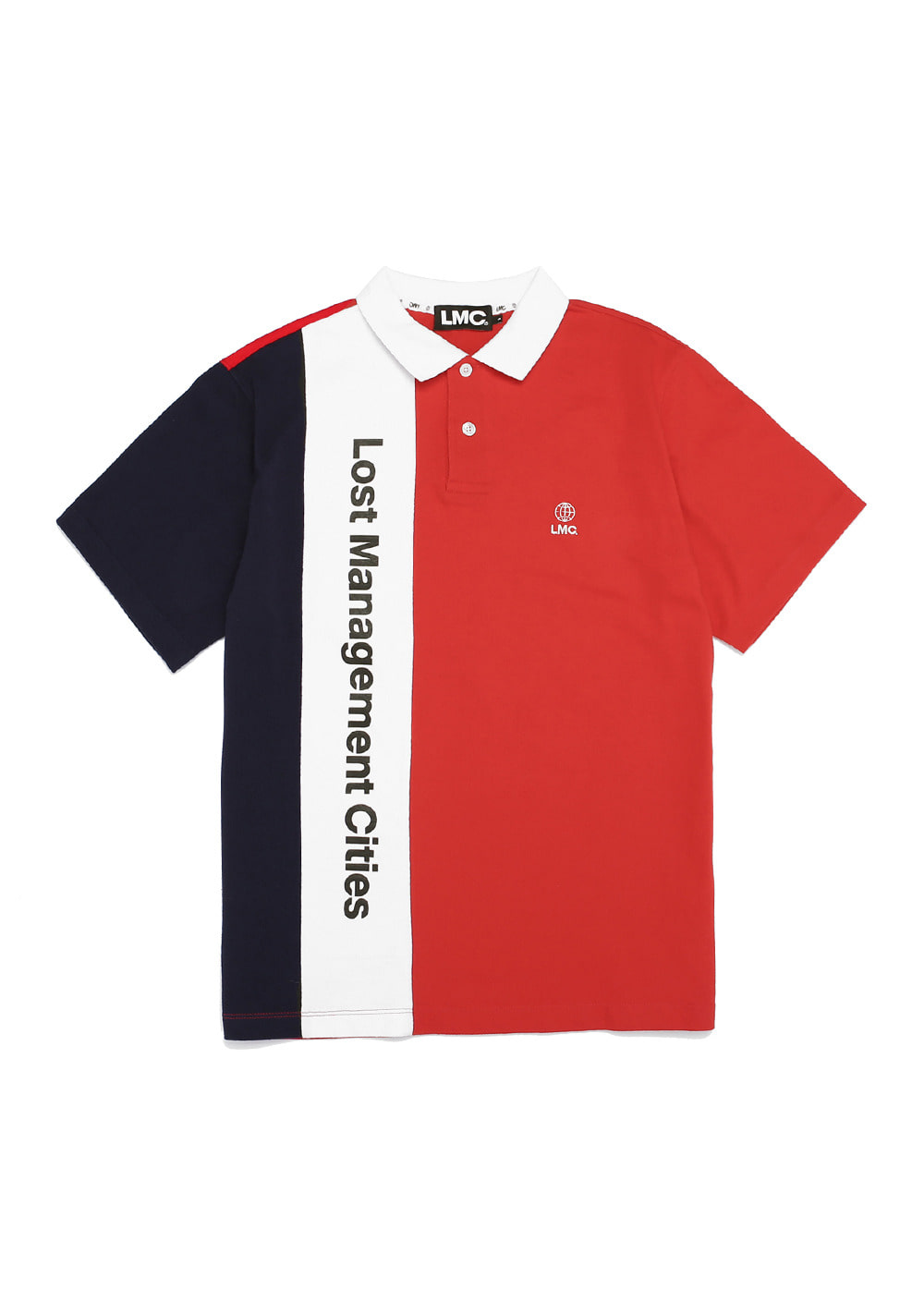 LMC VERTICAL LOGO PK POLO TEE red