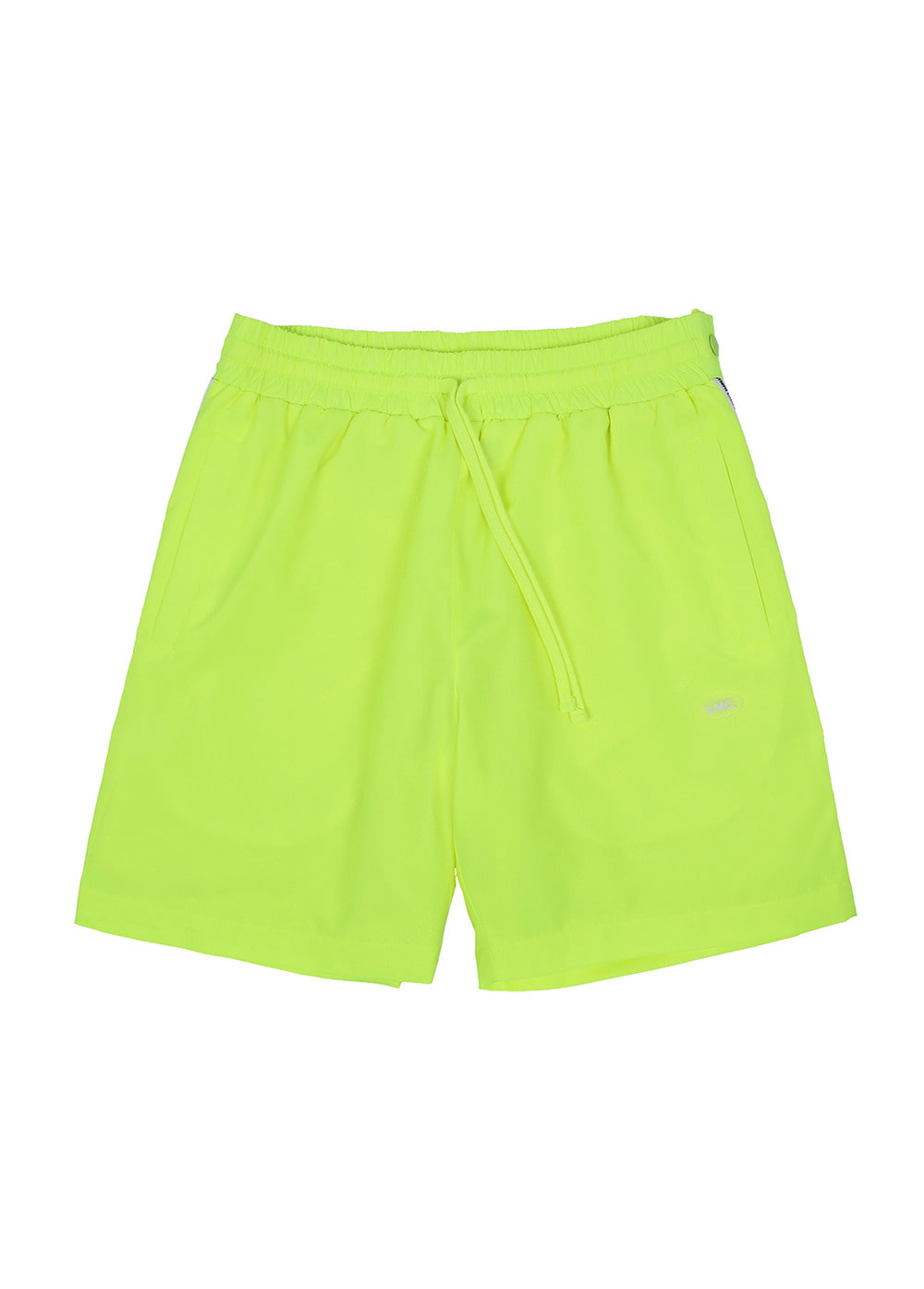 LMC ATHLETIC SNAP SHORTS neon green