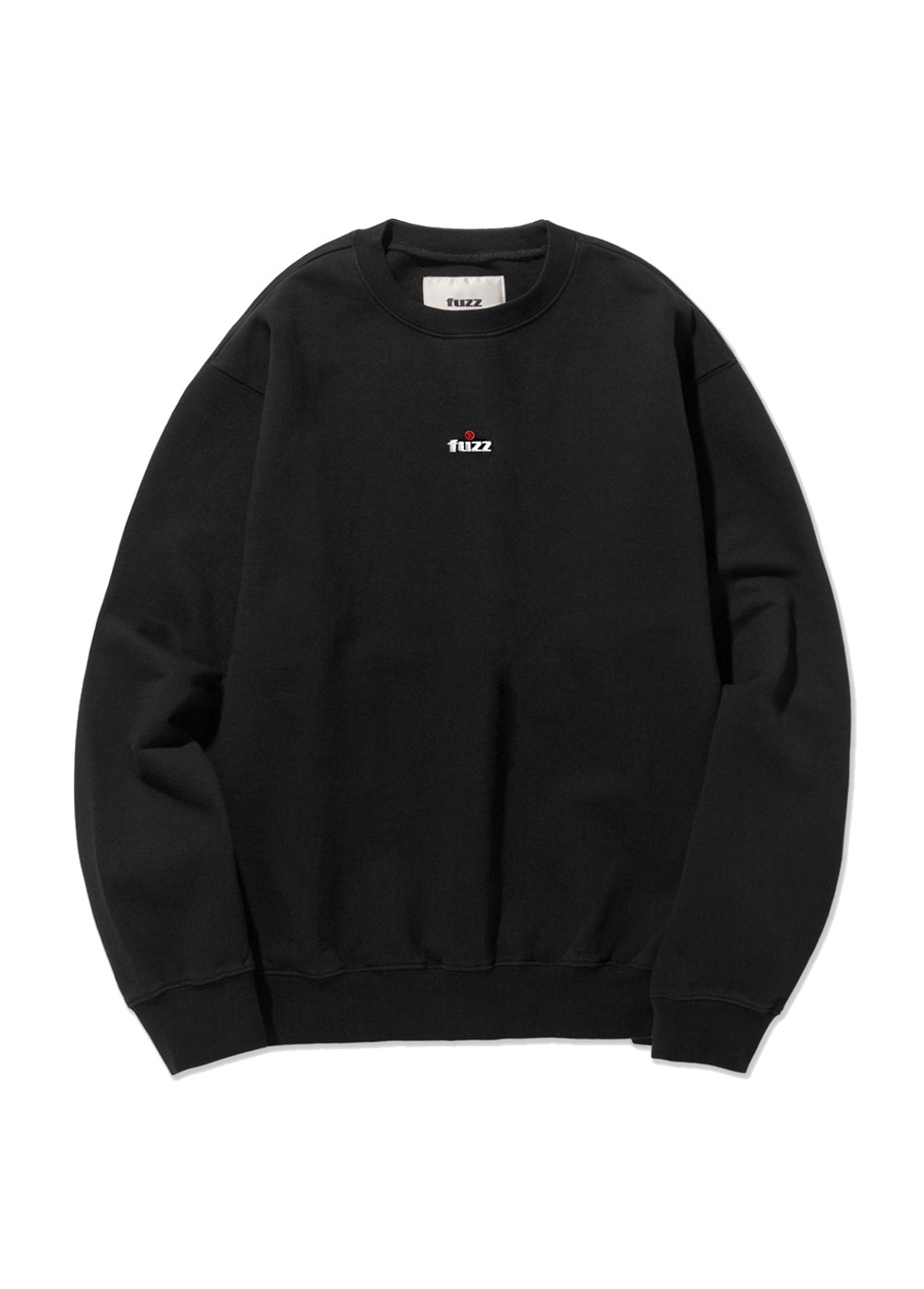 FUZZ OVER DYED SWEATSHIRT black