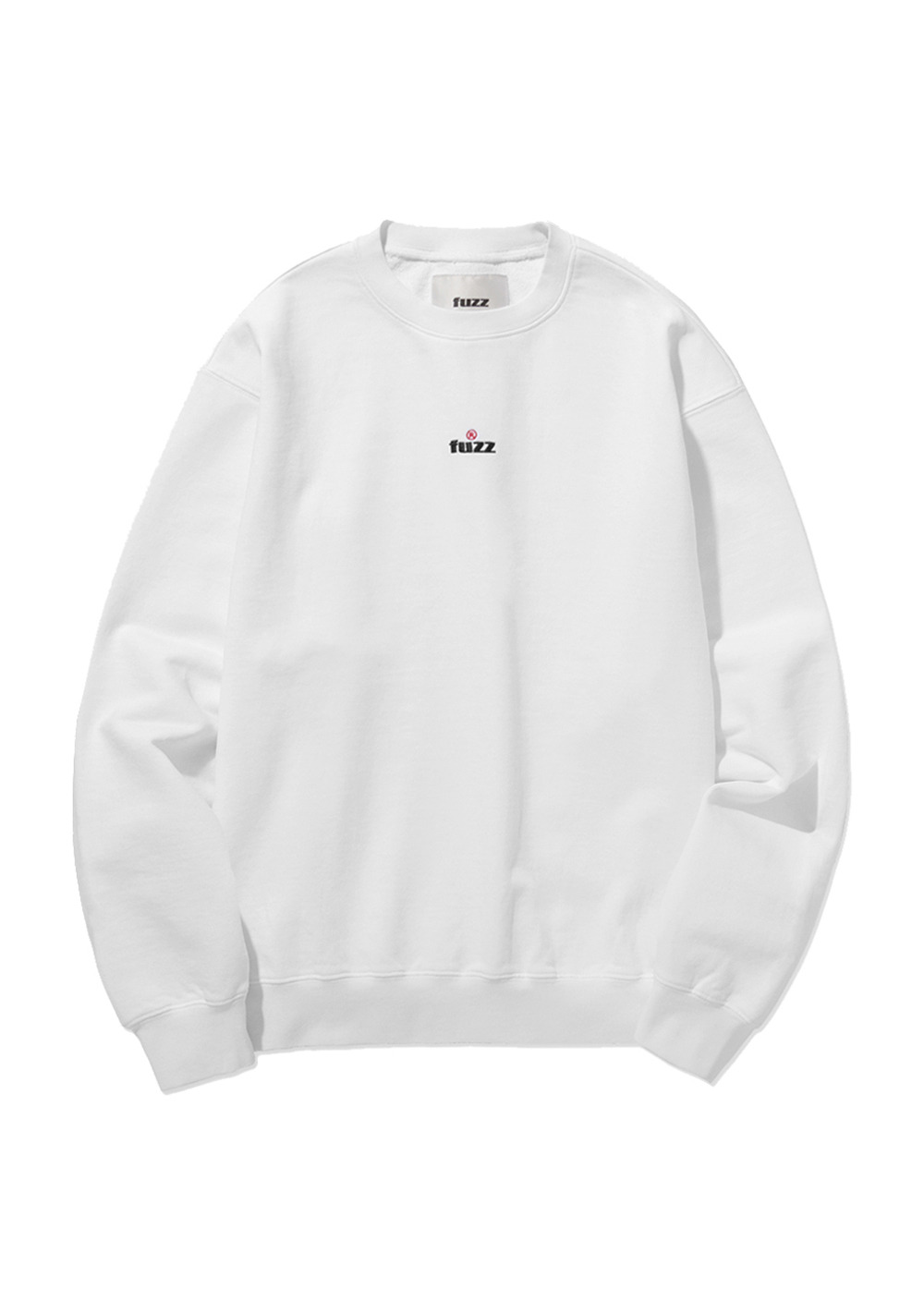 FUZZ OVER DYED SWEATSHIRT white