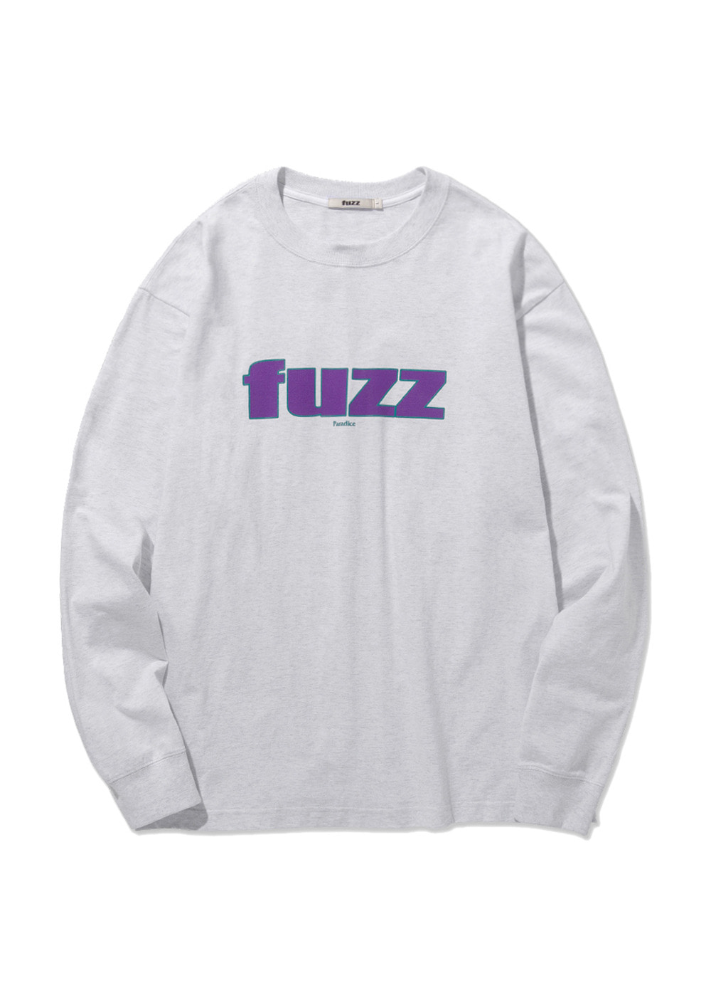 FUZZ FRONT LOGO L/S TEE lt. heather gray