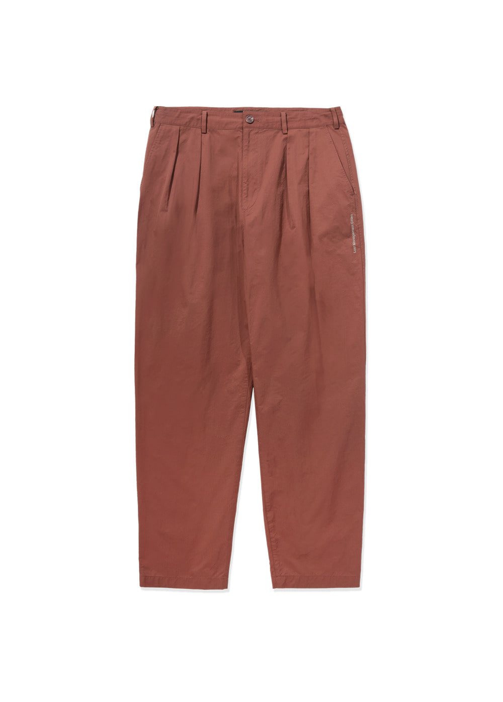 LMC DOUBLE PLEATED EASY TROUSER red brown