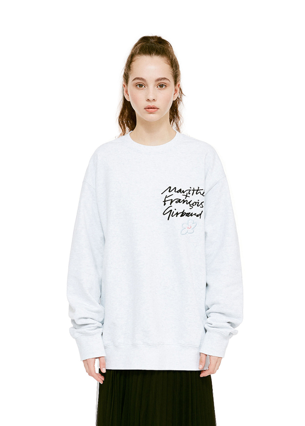 MFG HANDWRITTEN SWEATSHIRT heather gray