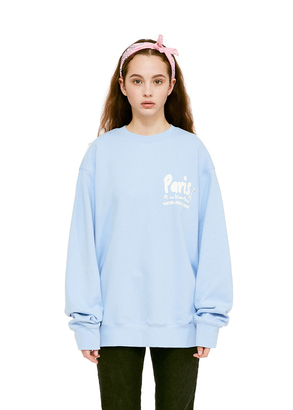 MFG MARKER L ADRESSE SWEATSHIRT powder blue