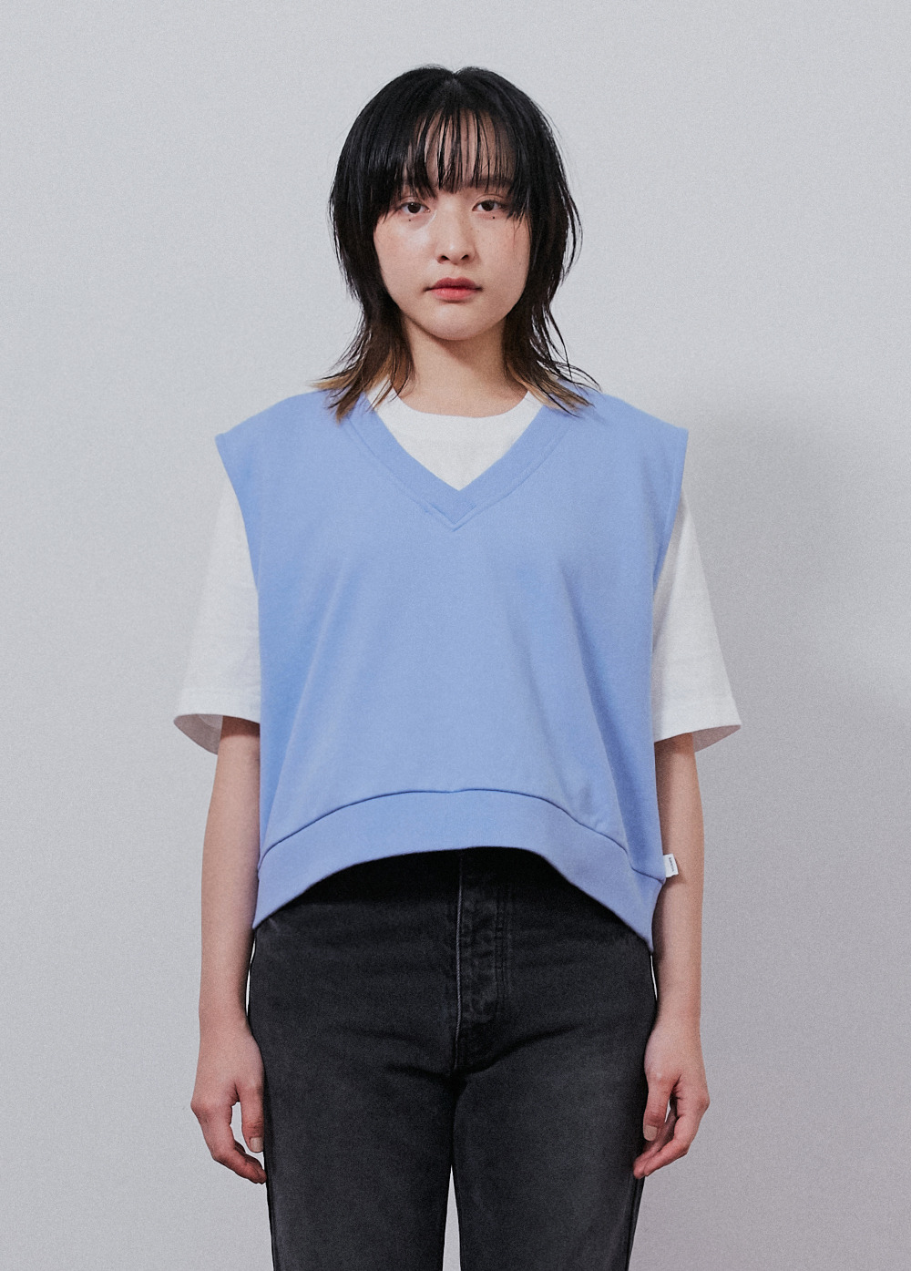 KANCO CROP VEST blue