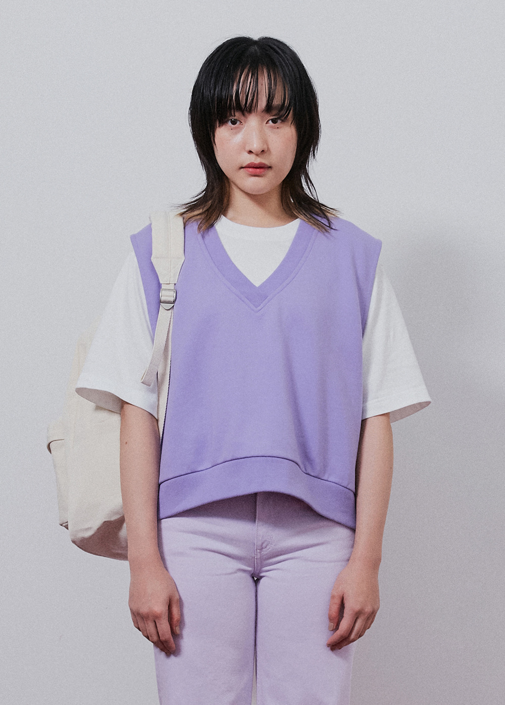 KANCO CROP VEST purple