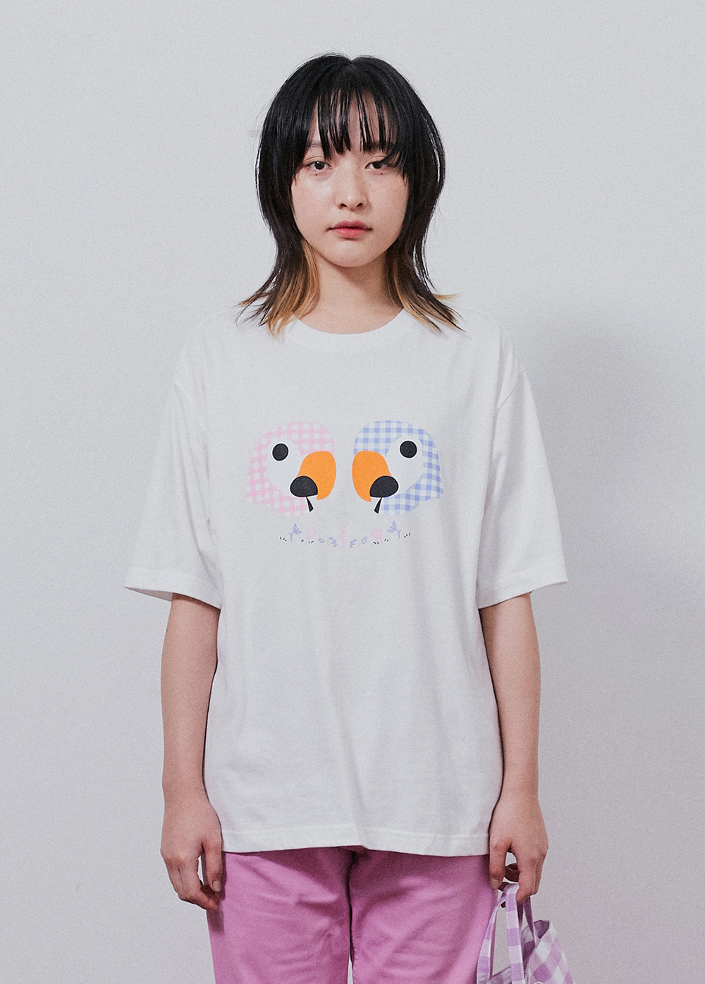 KANCO CHECK TEE white